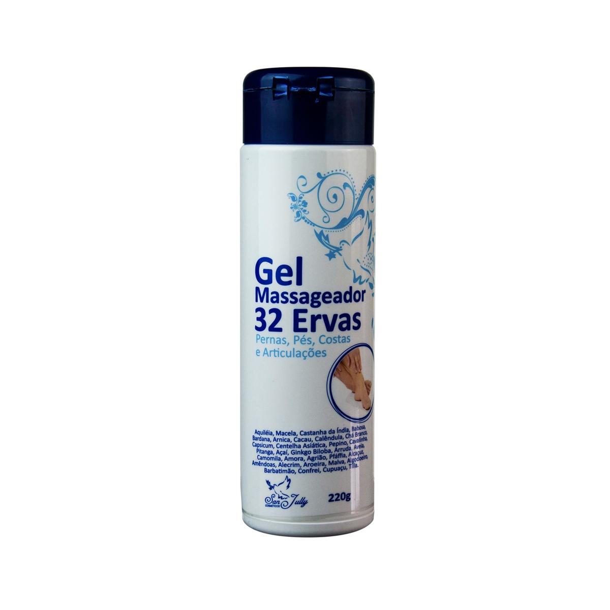 Gel Massageador 32 Ervas tubo 220g - San Jully
