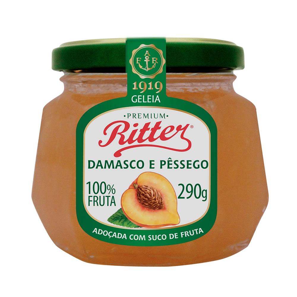 Geleia 100% Fruta de Damasco e Pêssego 290g - Ritter