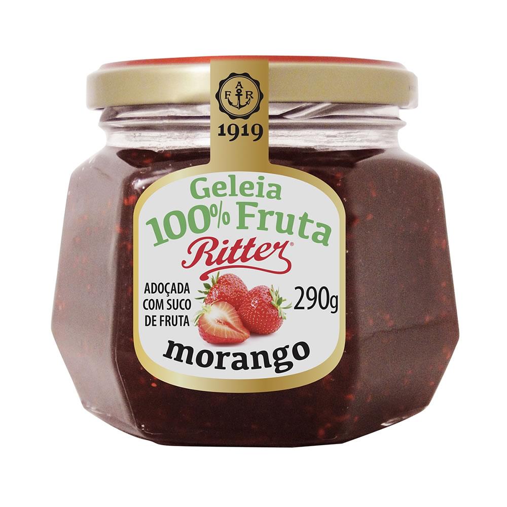 Geleia 100% Fruta de Morango 290g - Ritter