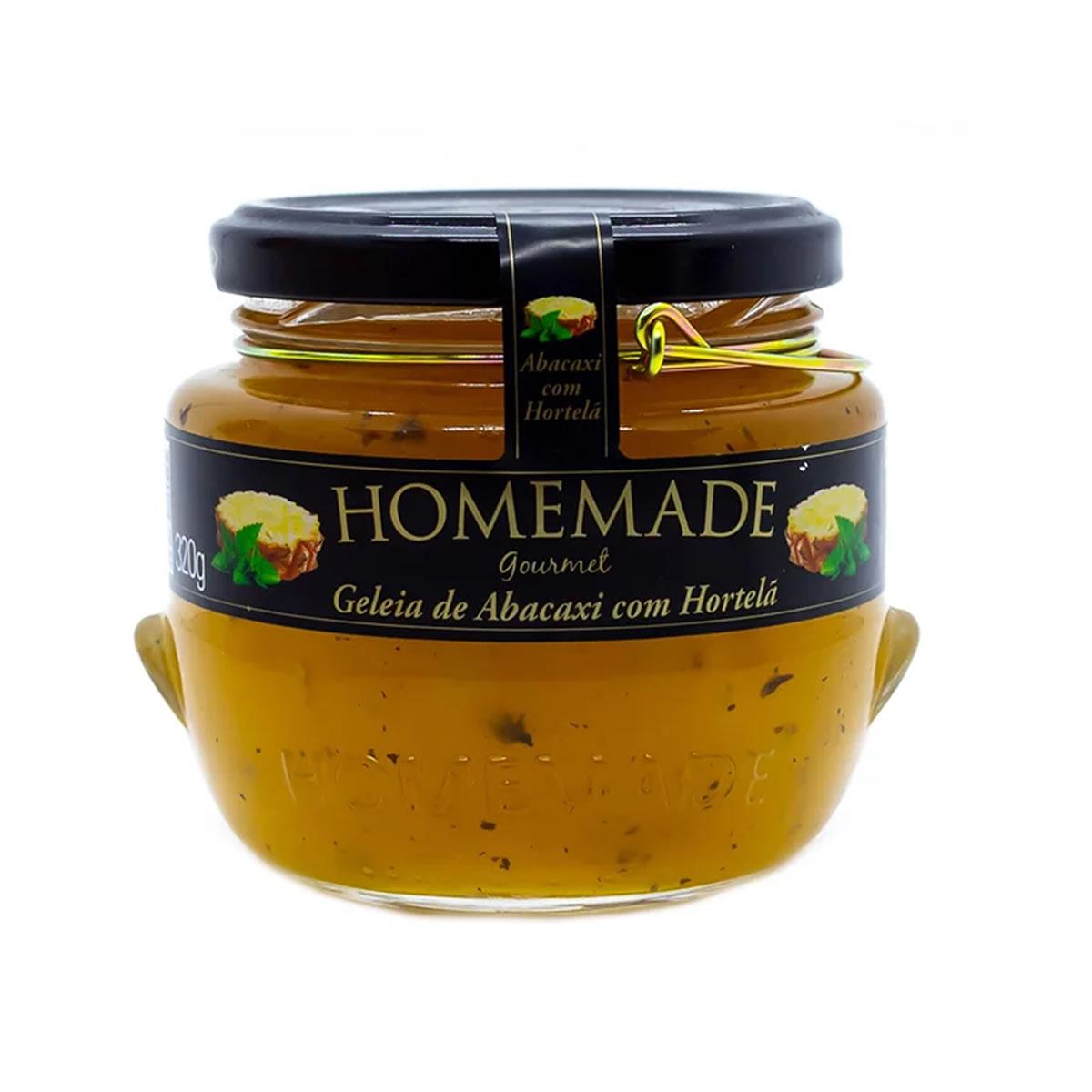 Geleia de Abacaxi com Hortelã 320g - Homemade