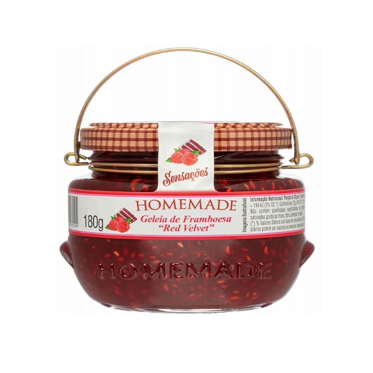Geleia de Framboesa Red Velvet 180g - Homemade