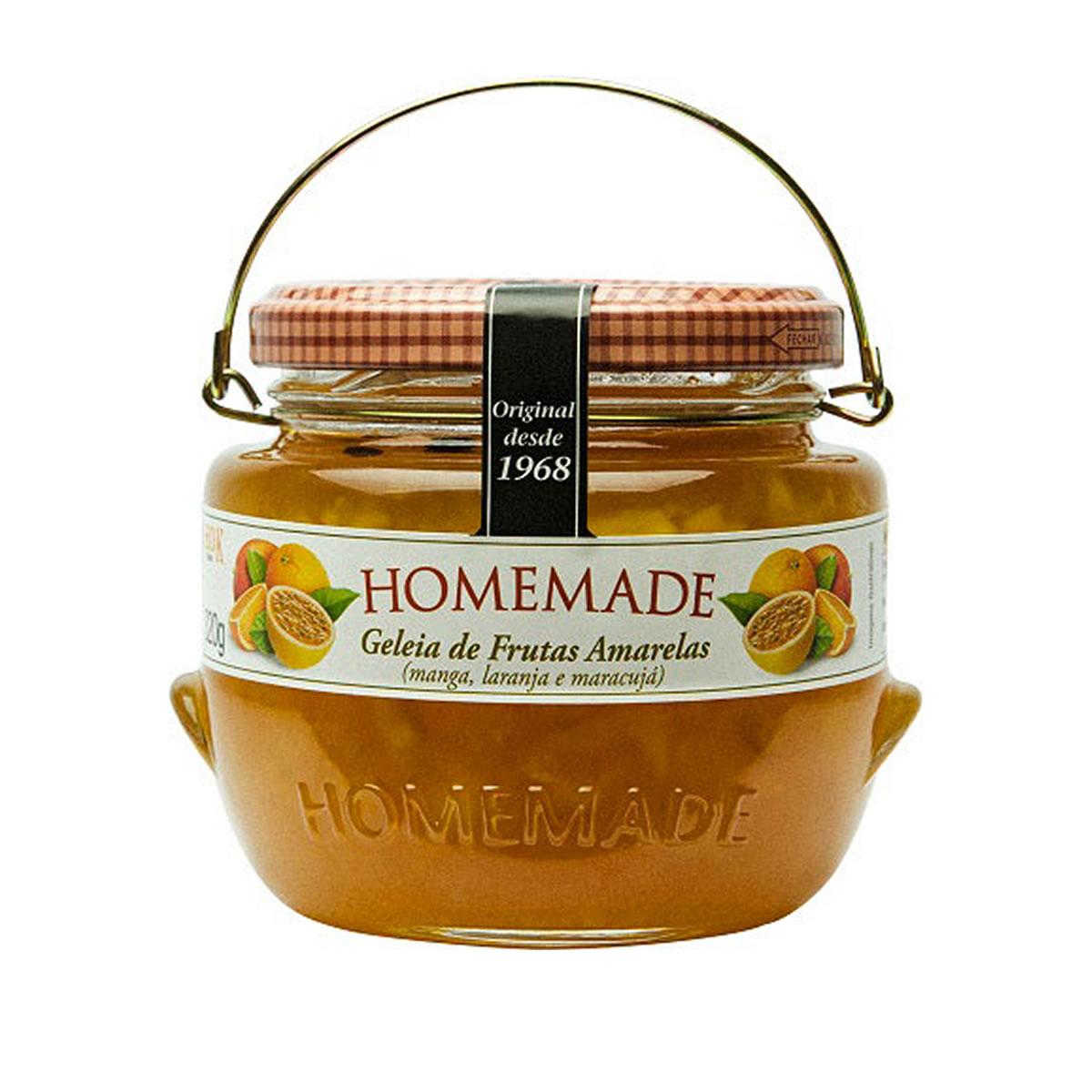 Geleia de Frutas Amarelas 320g - Homemade