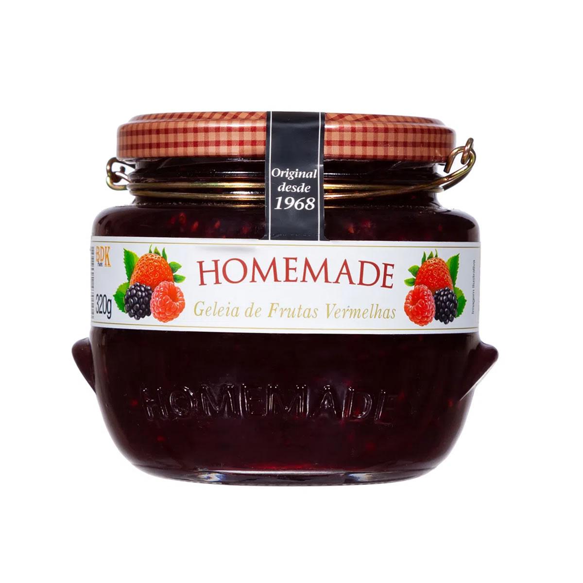 Geleia de Frutas Vermelhas 320g - Homemade