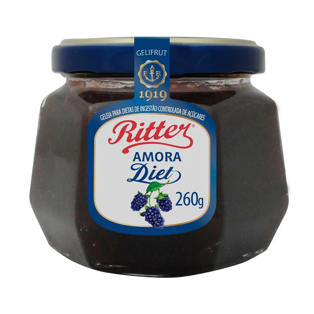 Geleia Diet de Amora 260g - Ritter