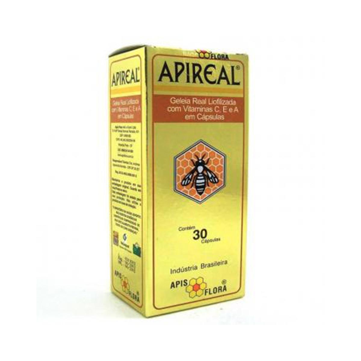 Geléia Real Liofilizada APIREAL 30 cápsulas - Apis Flora
