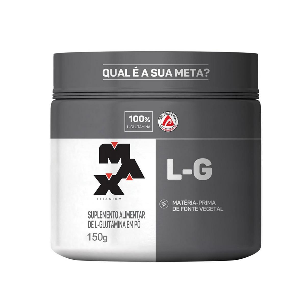 Glutamina em Pó 150g - Max Titanium