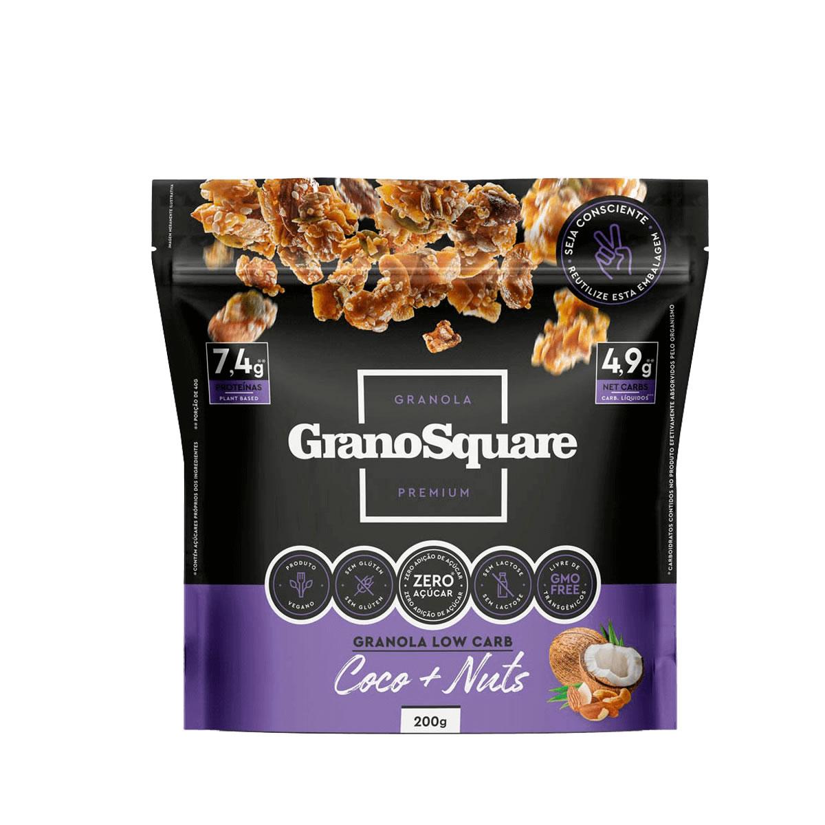 Granola Low Carb Coco com Nuts 200g - GranoSquare