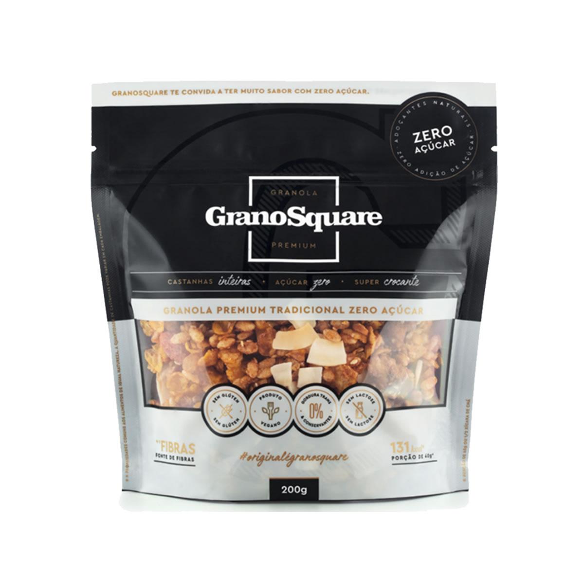 Granola Premium Tradicional Zero 200g - GranoSquare