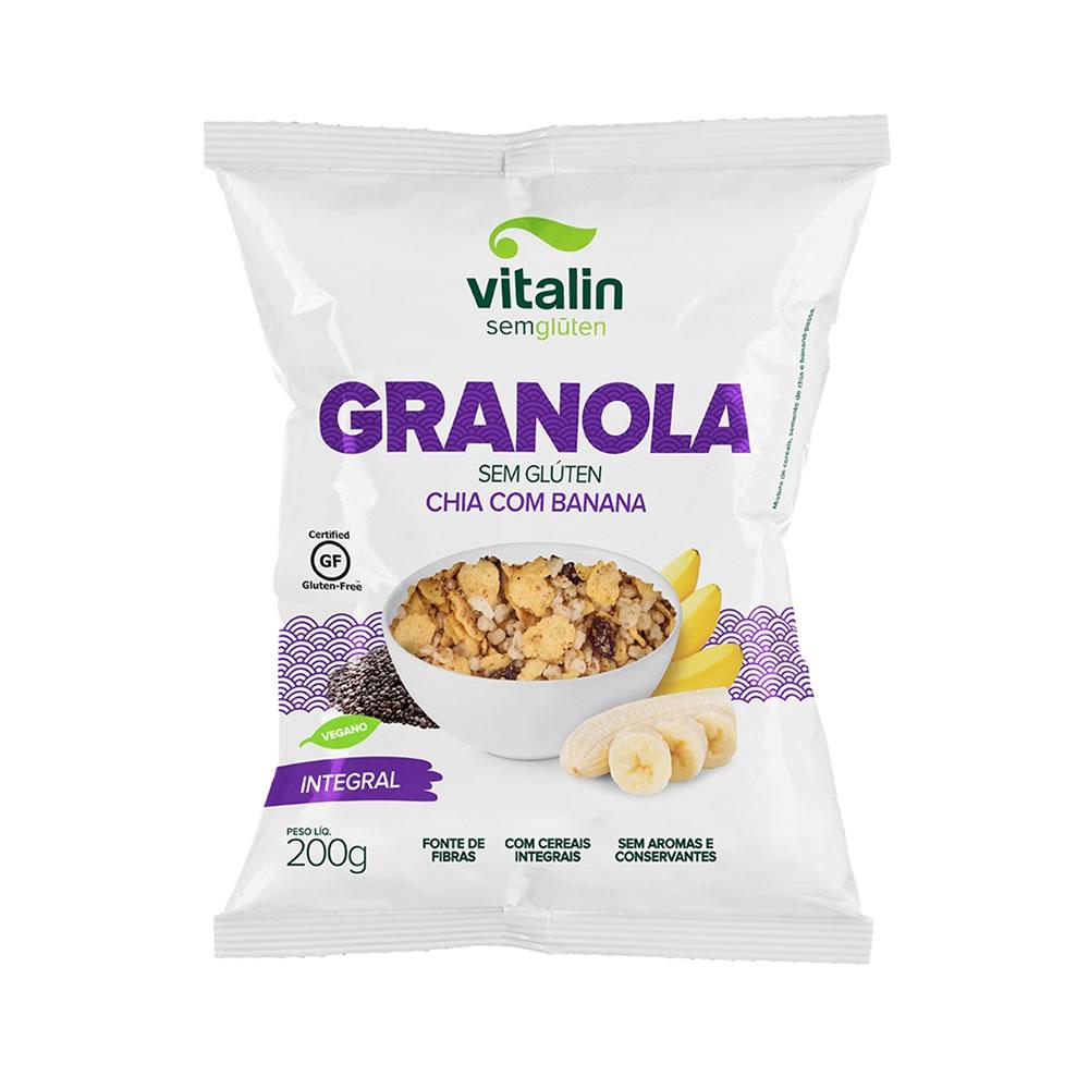 Granola Sem Glúten Chia com Banana 200g - Vitalin