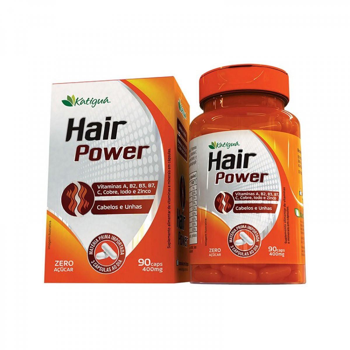 Hair Power Cabelos e Unhas 400mg 90 cápsulas - Katiguá
