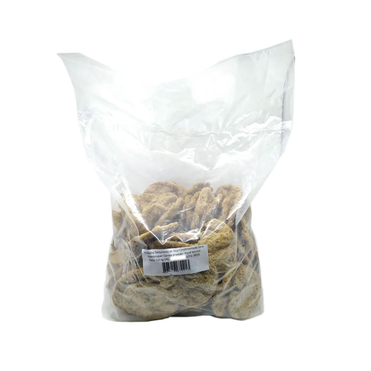 Hamburguer de Soja Carne Branca 1,0kg - Sora