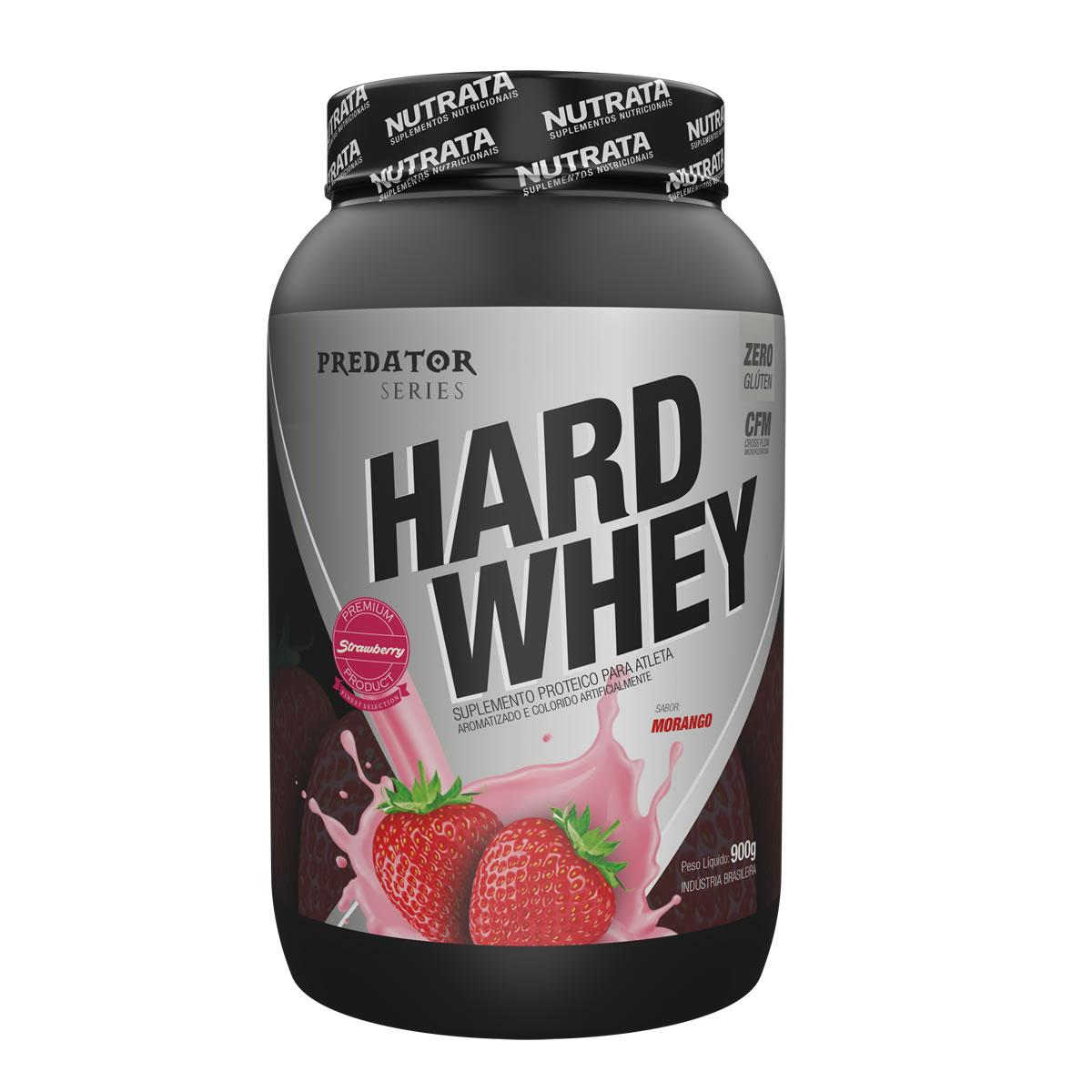 Hard Whey Predator sabor Morango 900g - Nutrata