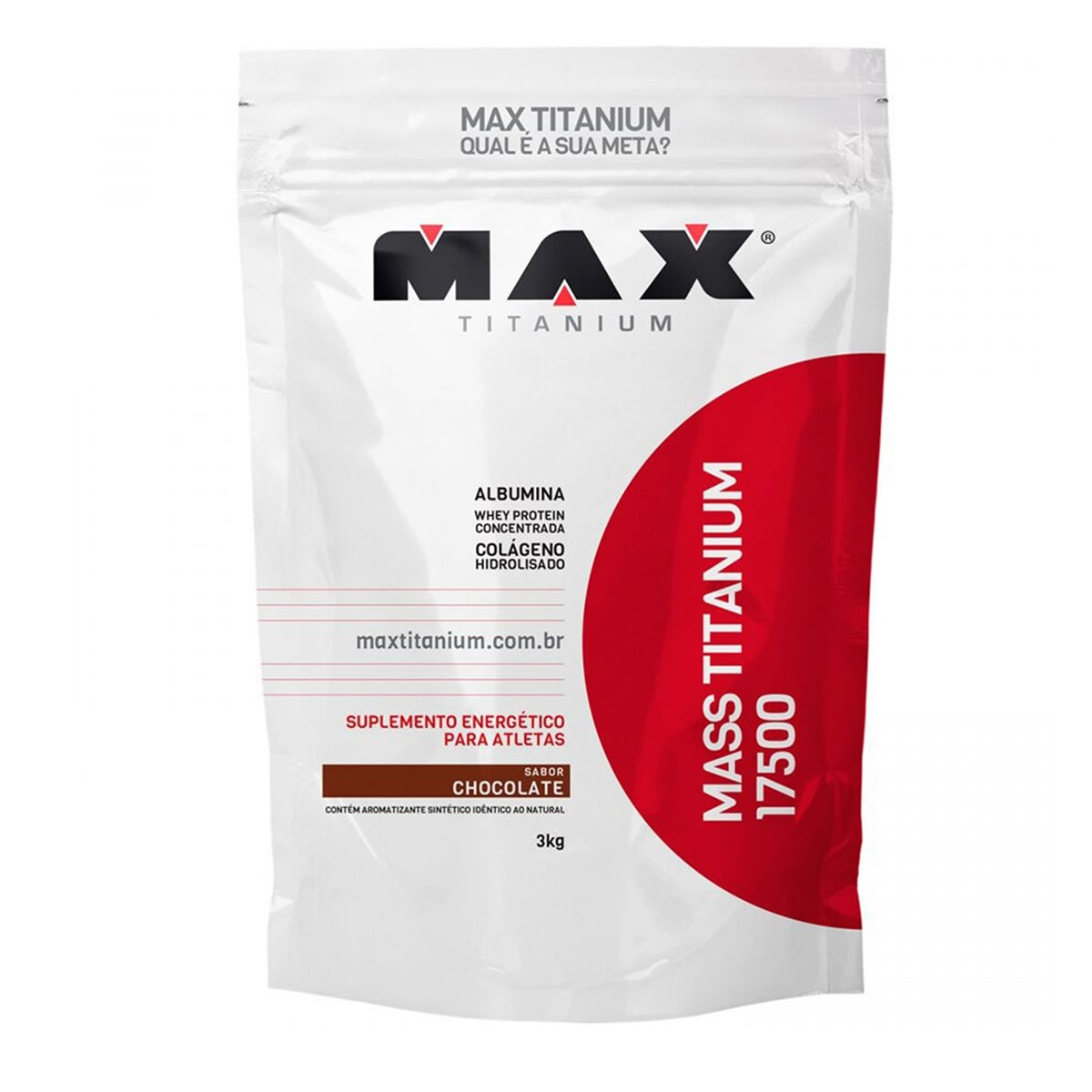 Hipercalórico Mass Titanium Sabor Chocolate 3kg - Max Titanium