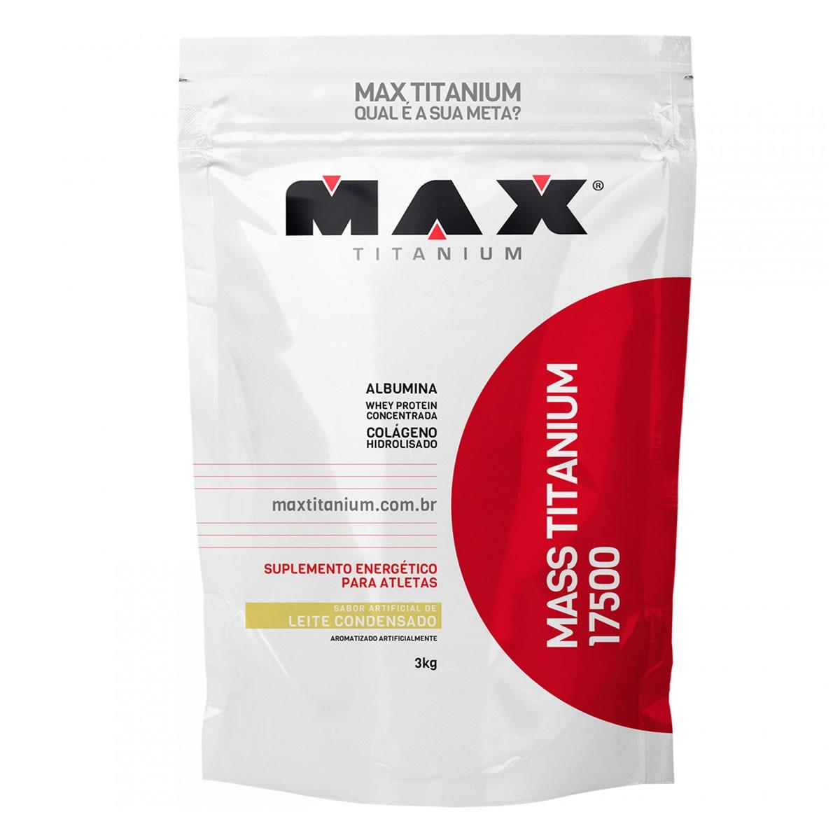 Hipercalórico Mass Titanium Sabor Leite Condensado 3kg - Max Titanium