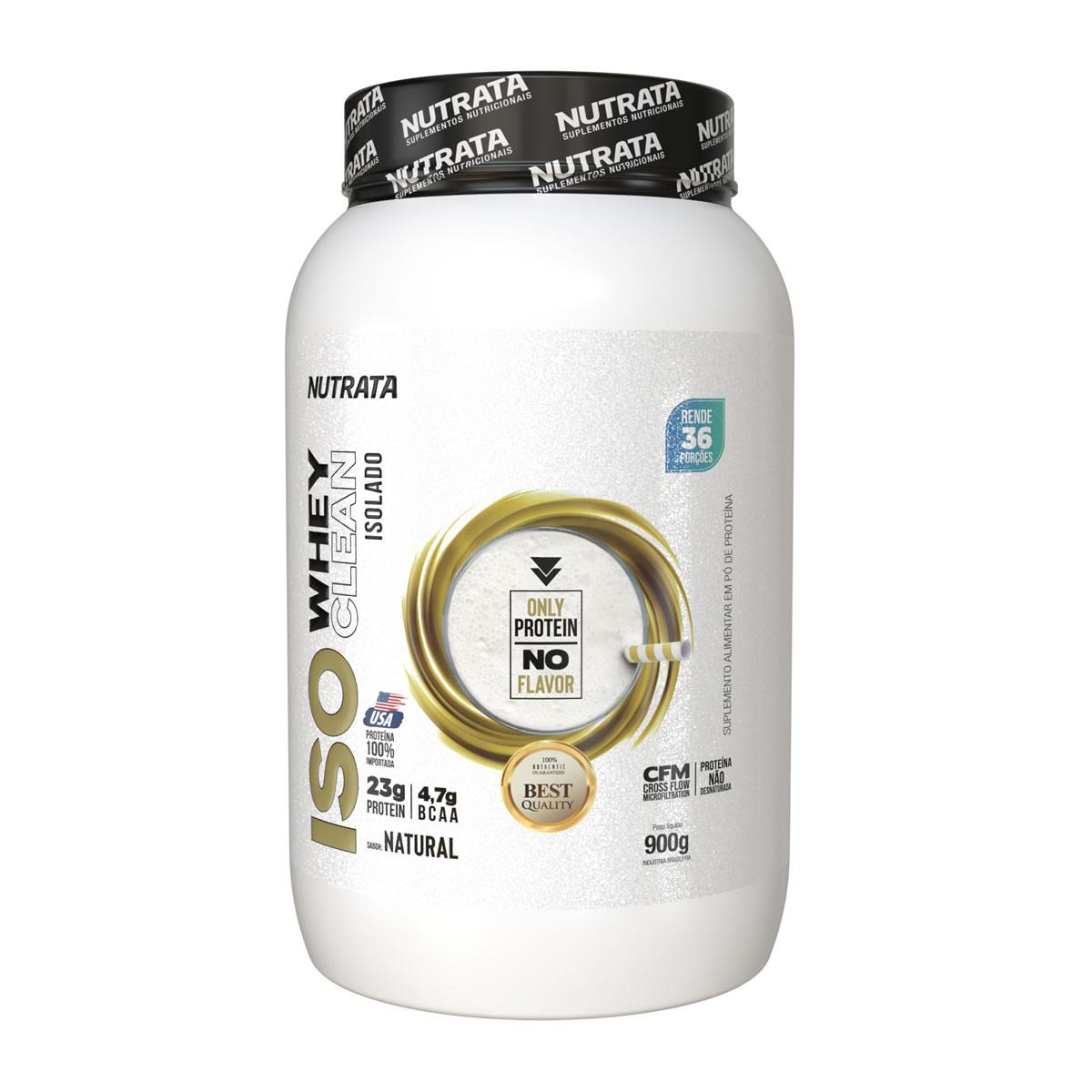 Iso Whey Pure Isolado sabor Natural 900g - Nutrata