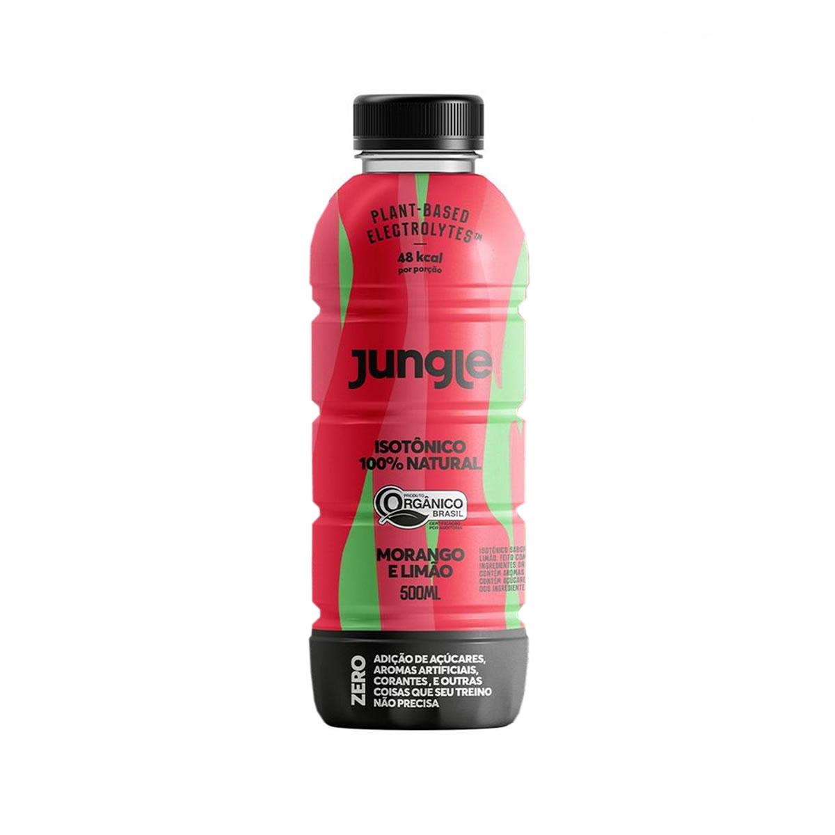 Isotônico 100% Natural Sabor Morango e Limão Orgânico 500ml - Jungle