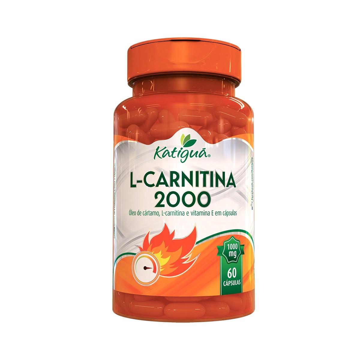 L - Carnitina 2000 1000mg 60 Cápsulas  - Katigua