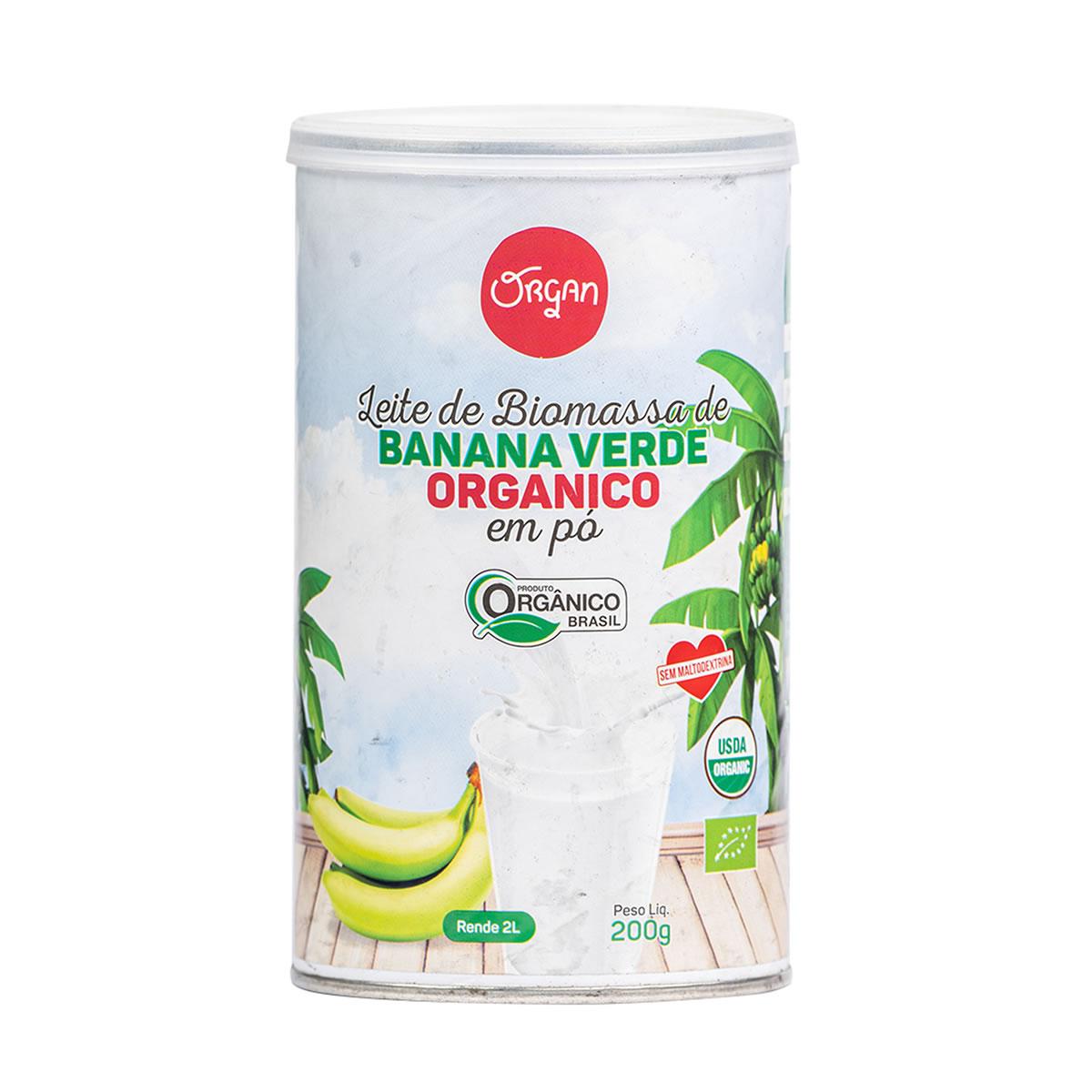 Leite de Biomassa de Banana Verde em Pó Orgânico 200g - Organ
