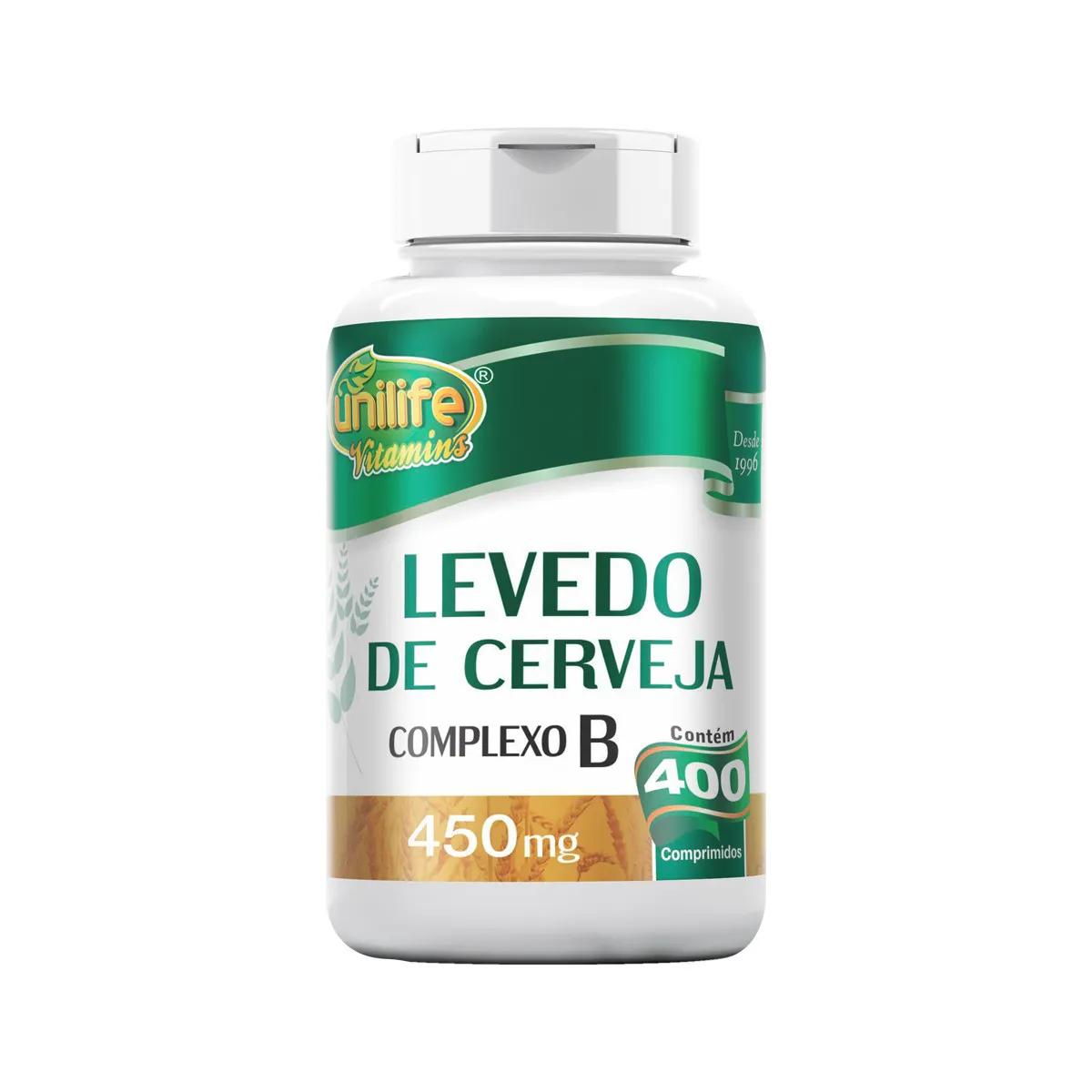 Levedo de cerveja 450mg 400 Comprimidos  - Unilife