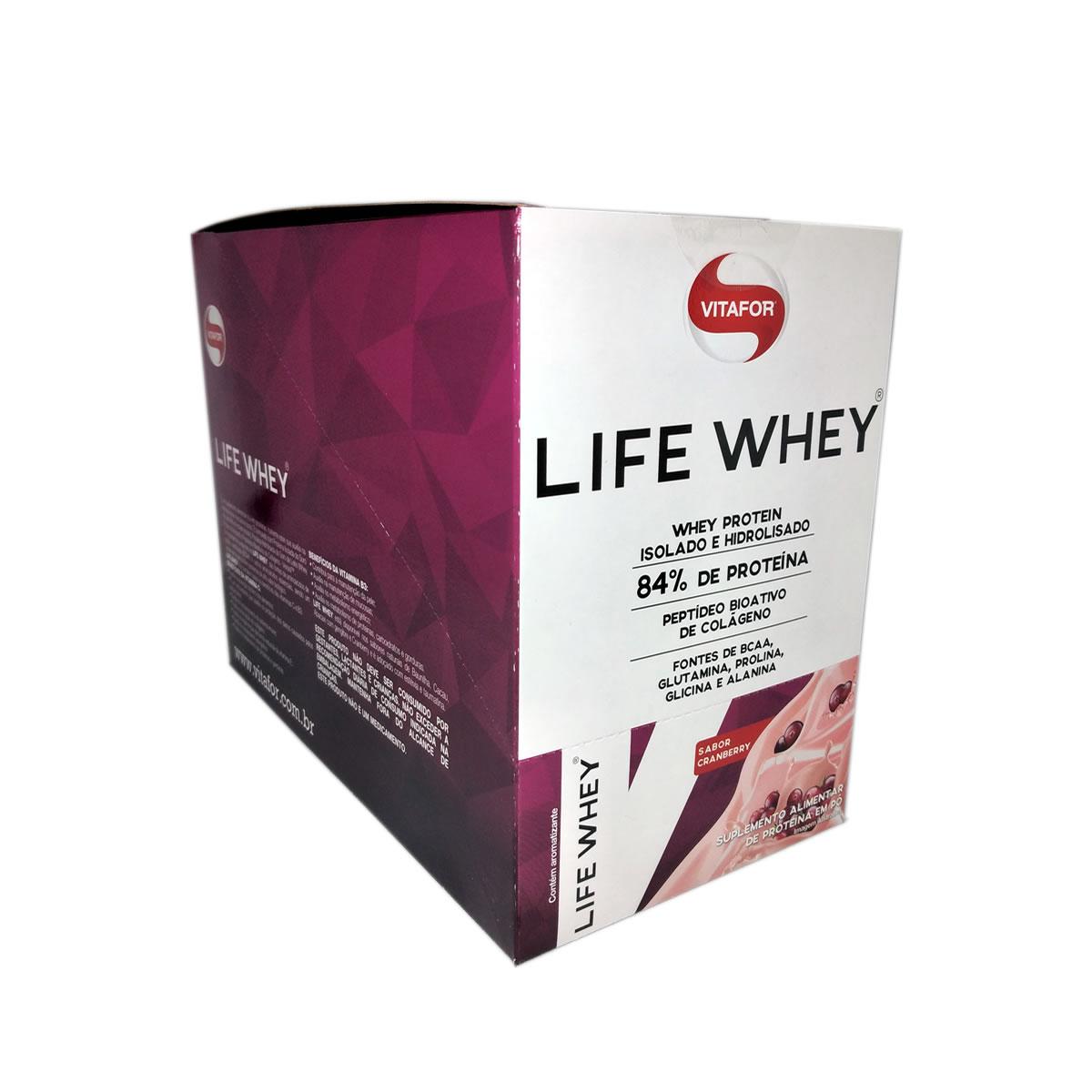 Life Whey Sabor Cranberry 15 Sachês de 25g - Vitafor