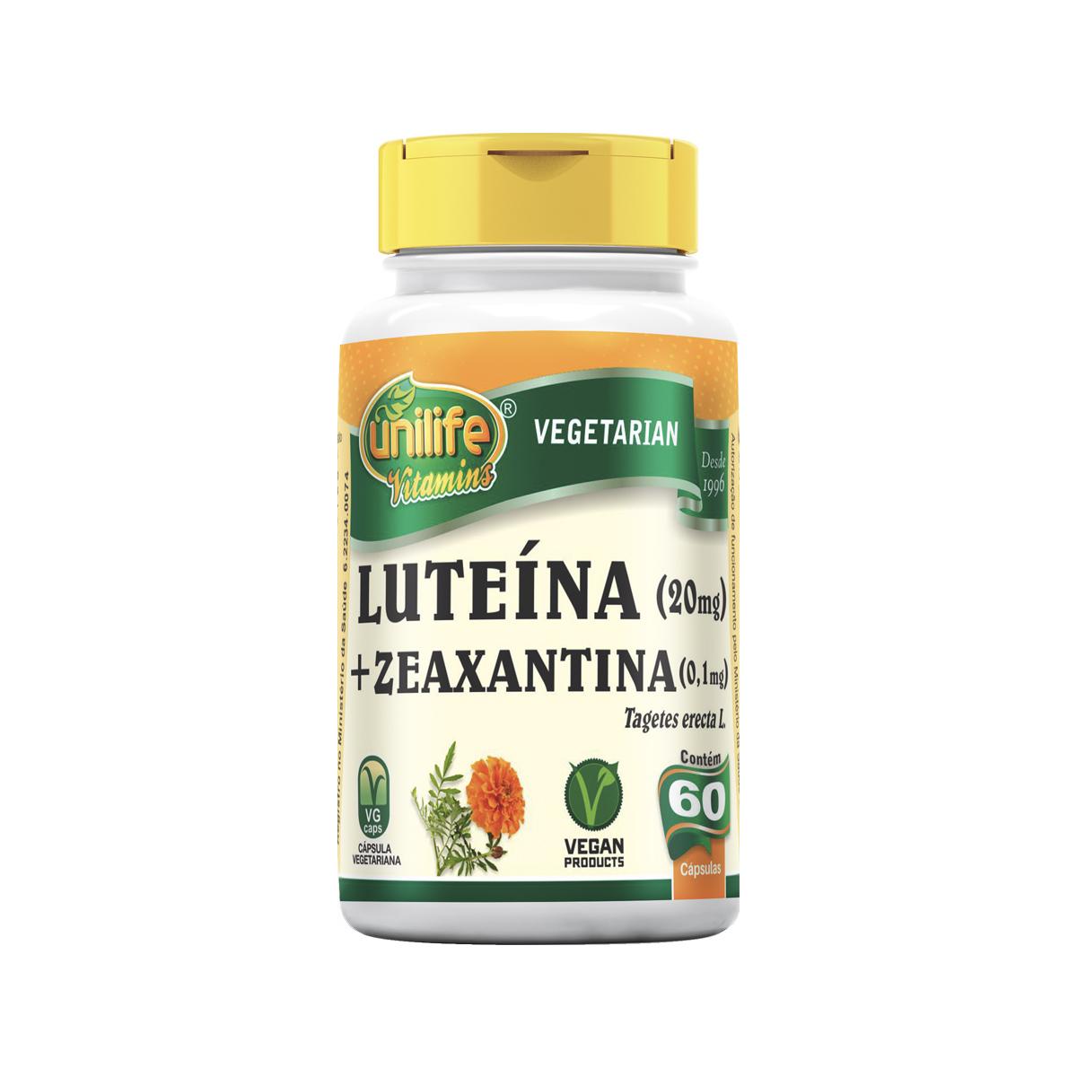 Luteína com Zeaxantina 400mg 60 Cápsulas - Unilife