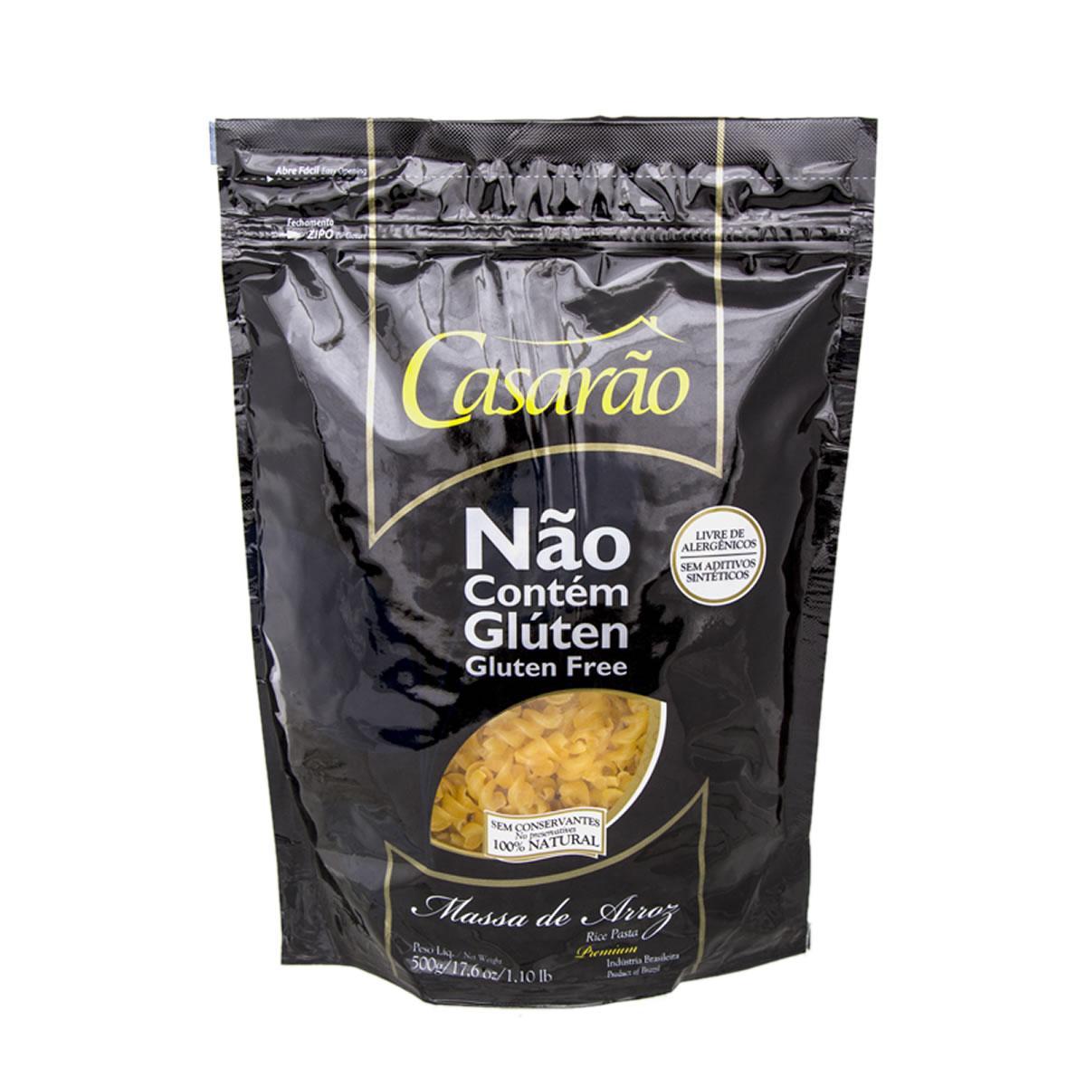 Macarrão de Arroz Fusilli Premium 500g - Casarão