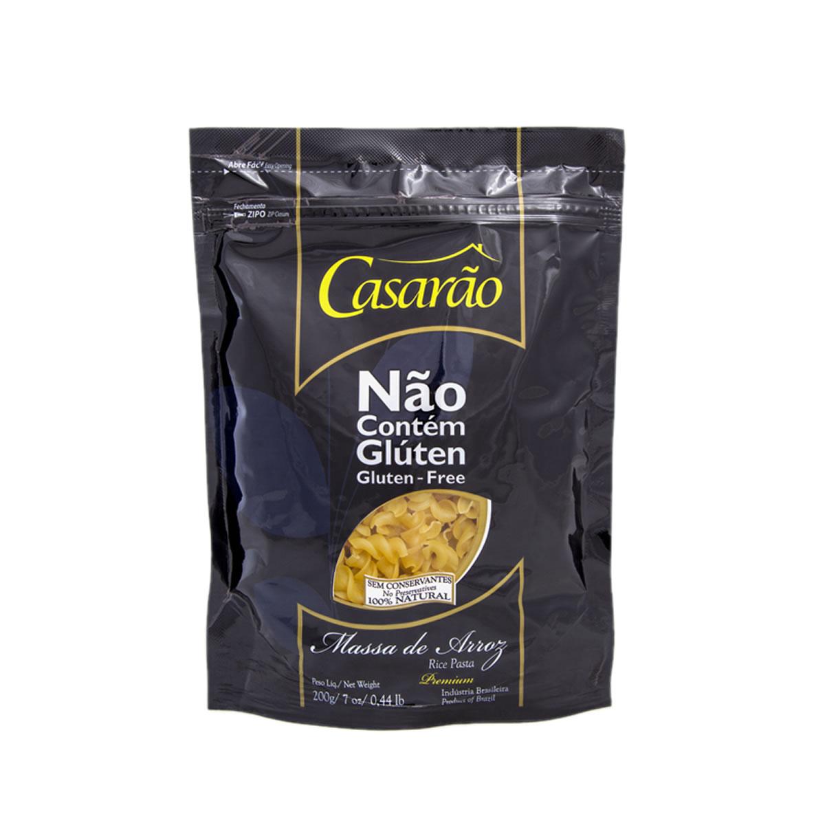 Macarrão de Arroz Fusillii Premium 200g - Casarão