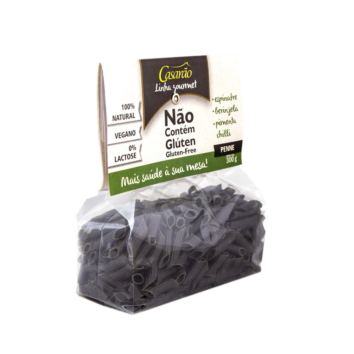 Macarrão de Arroz Penne Sabor Espinafre 300g - Casarão