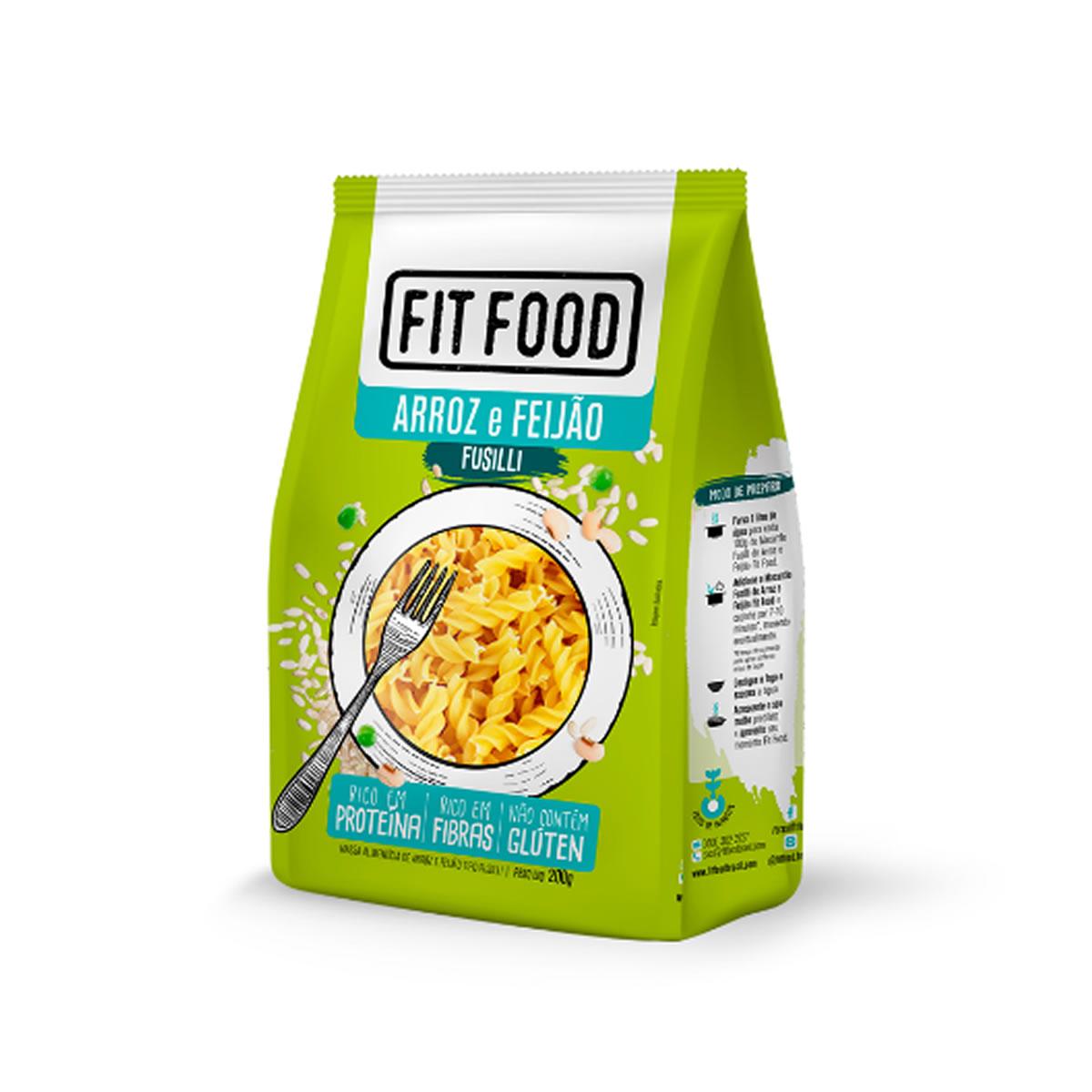 Macarrão Fusilli Arroz e Feijão 200g - Fit Food