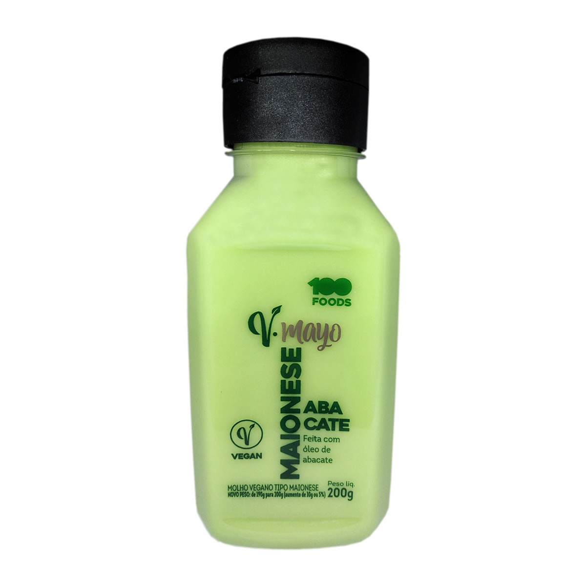 Maionese Vegana de Abacate 200g - 100 Foods