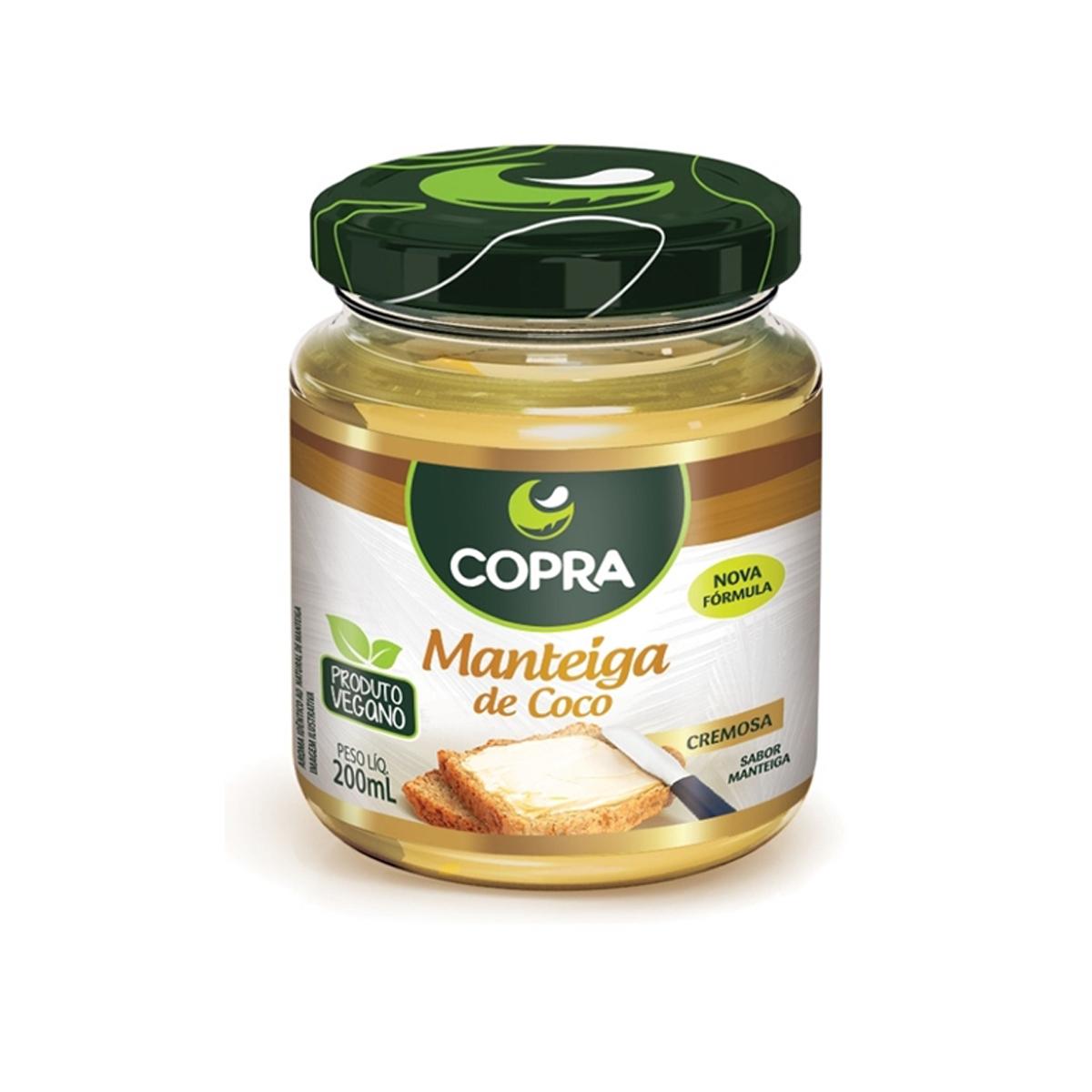 Manteiga de Coco Sabor Manteiga  200ml - Copra