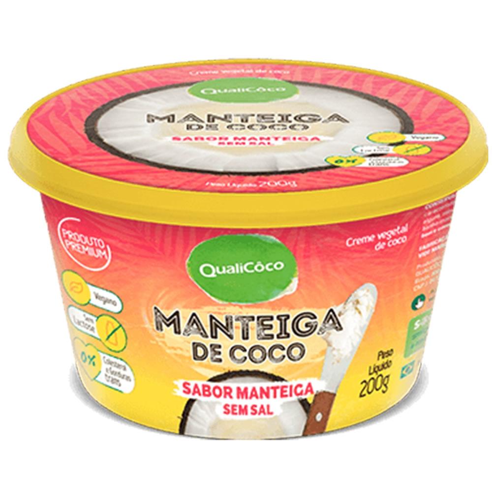 Manteiga de Coco sabor manteiga sem sal 200g - Qualicoco