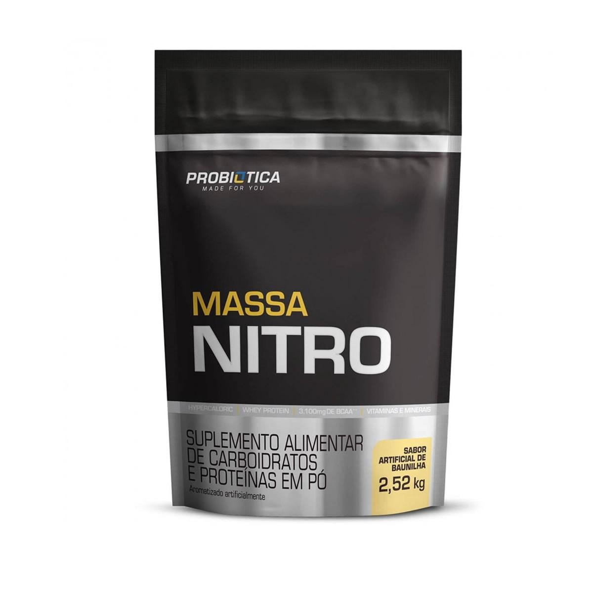 Massa Nitro Sabor Baunilha 2,520kg - Probiotica