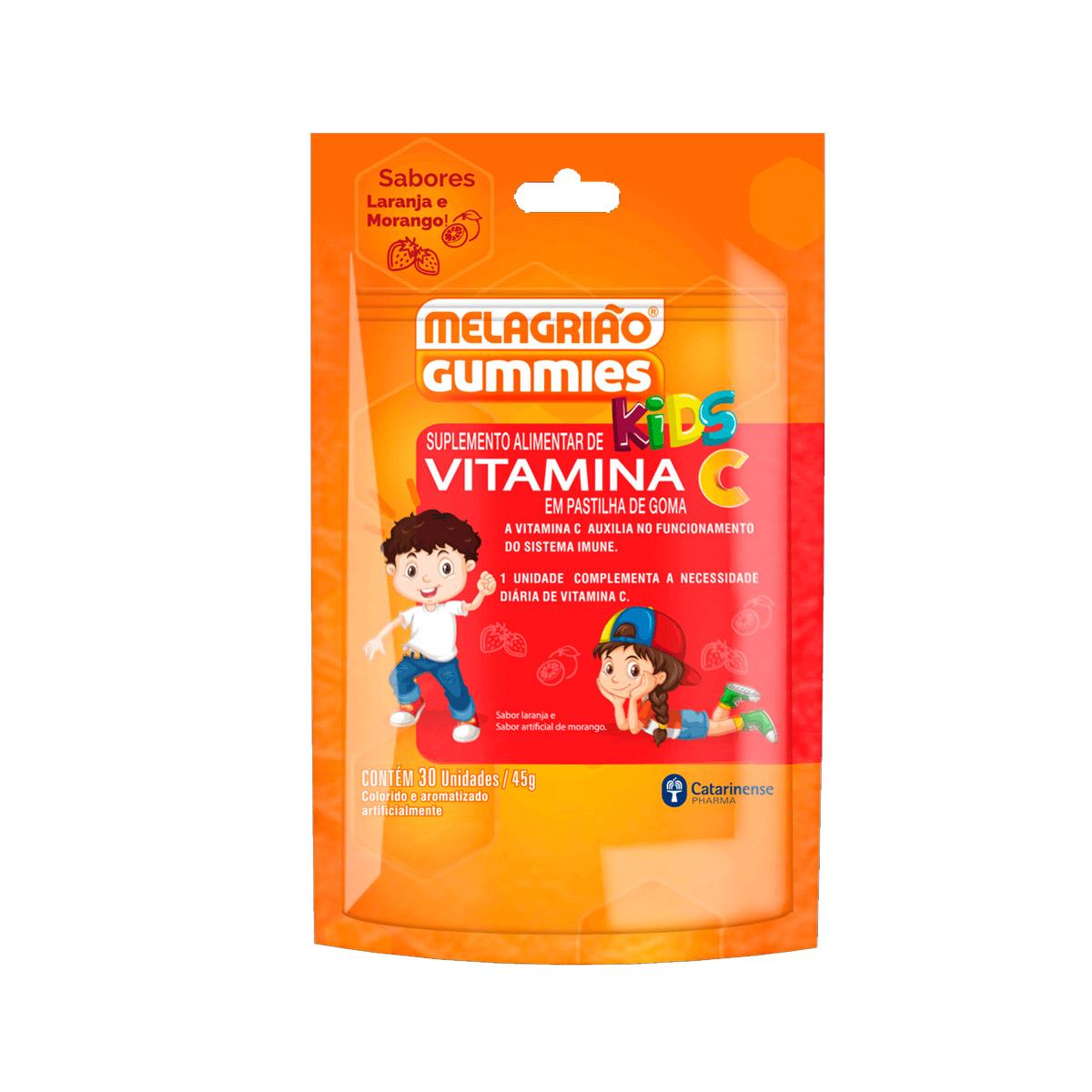 Melagrião Gummies Vitamina C em Goma Kids 30un - Catarinense