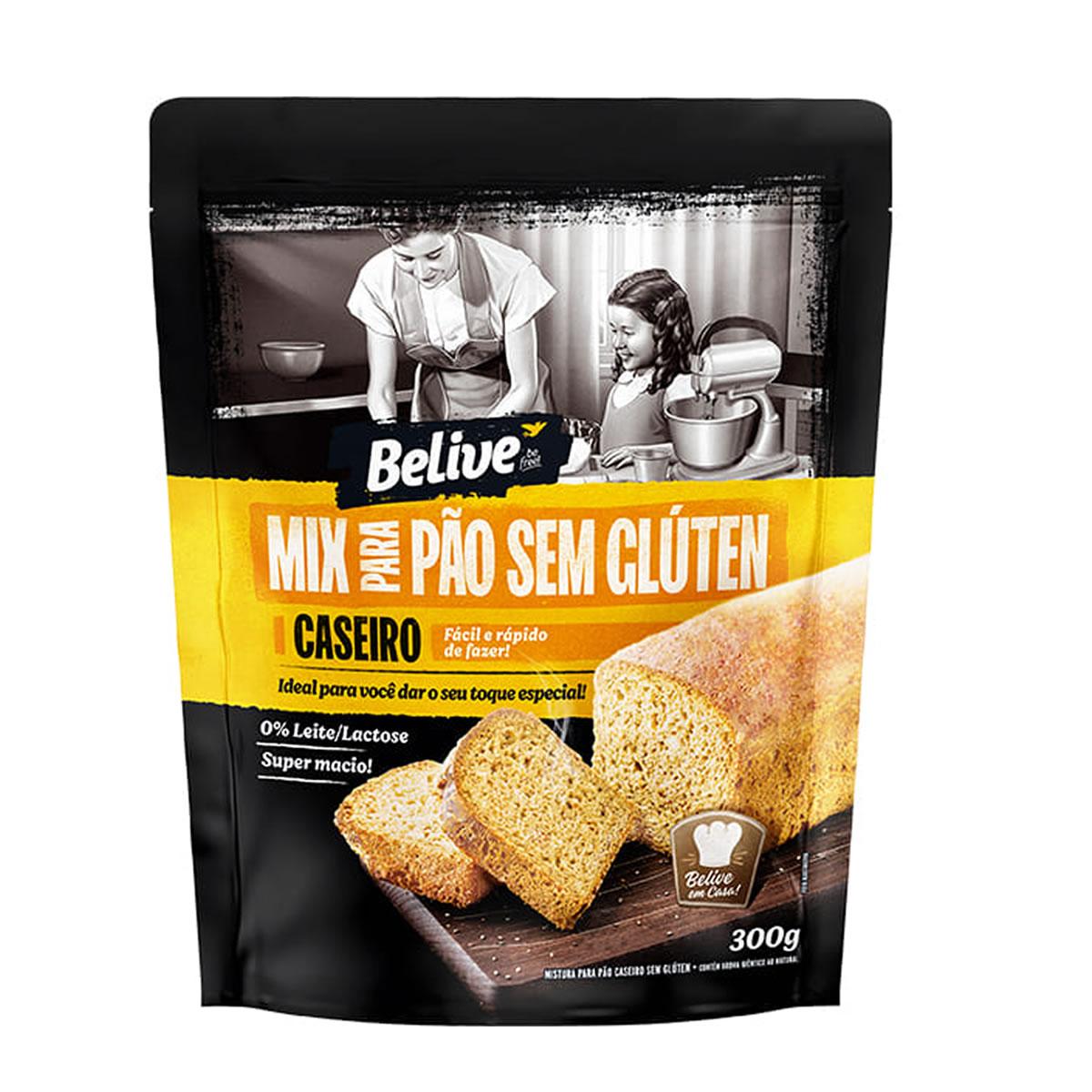 Mix para Pão Caseiro Sem Glúten 300g - Belive