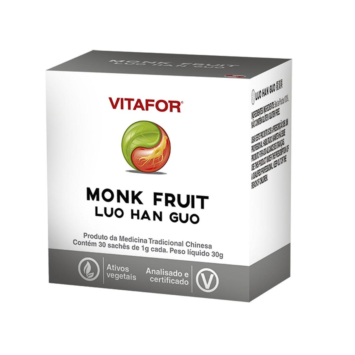 Monk Fruit Luo Han Guo com 30 Sachês de 1000mg  - Vitafor