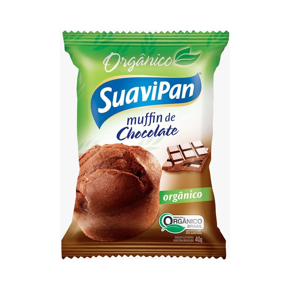 Muffin  de Chocolate Orgânico 40g - Suavipan