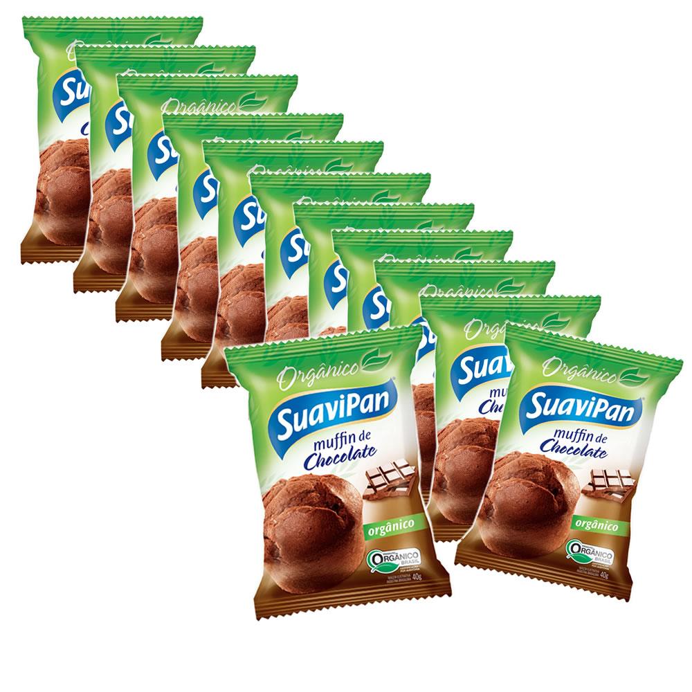Muffin  de Chocolate Orgânico com 12 un de 40g - Suavipan