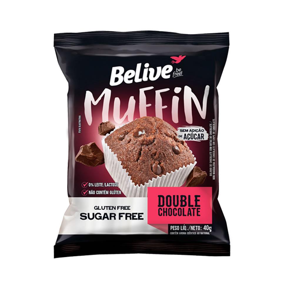 Muffin Sem Glúten Zero Double Chocolate 40g - Belive