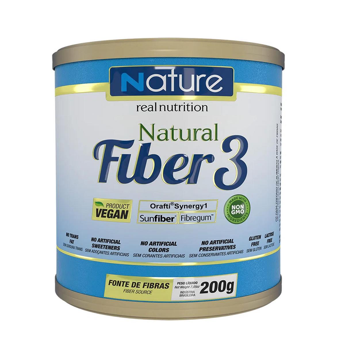 Natural Fiber 3 Sabor Natural 200g - Nutrata