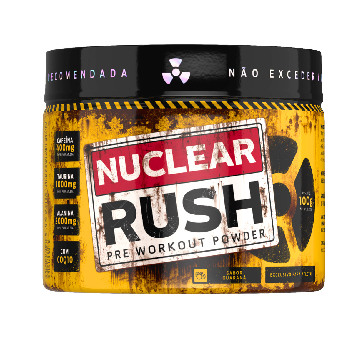 Nuclear Rush Sabor Guaraná 100g - Bodyaction