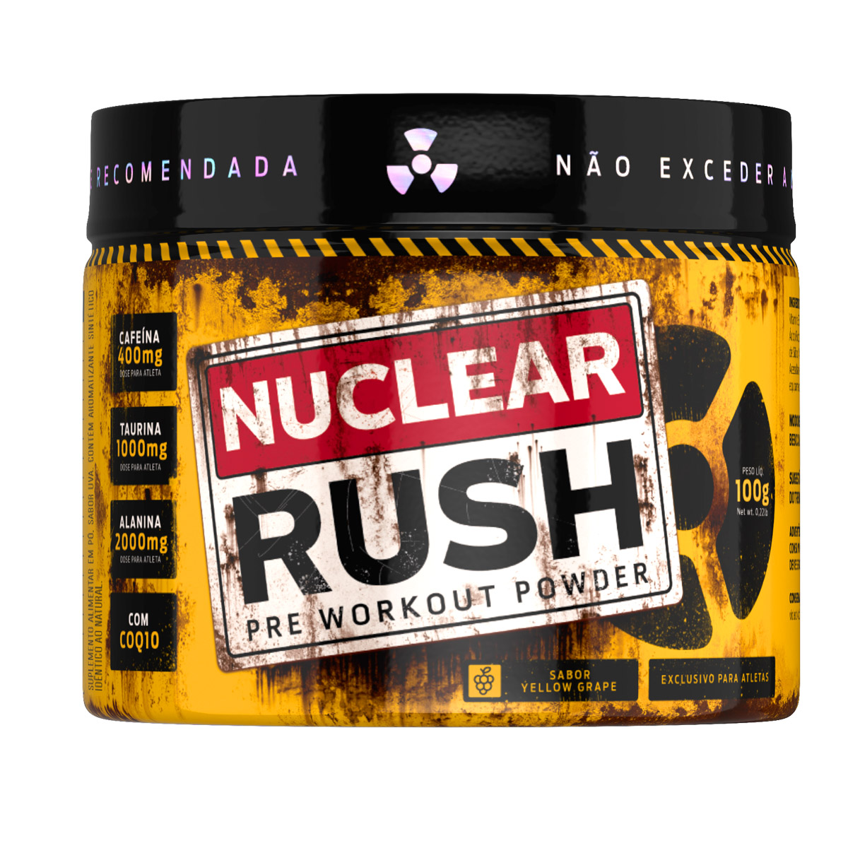 Nuclear Rush Sabor Yellow Grape 100g - Bodyaction