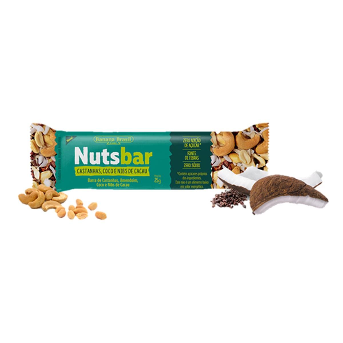 Nutsbar Castanha, Coco e Nibs de Cacau 25g - Banana Brasil
