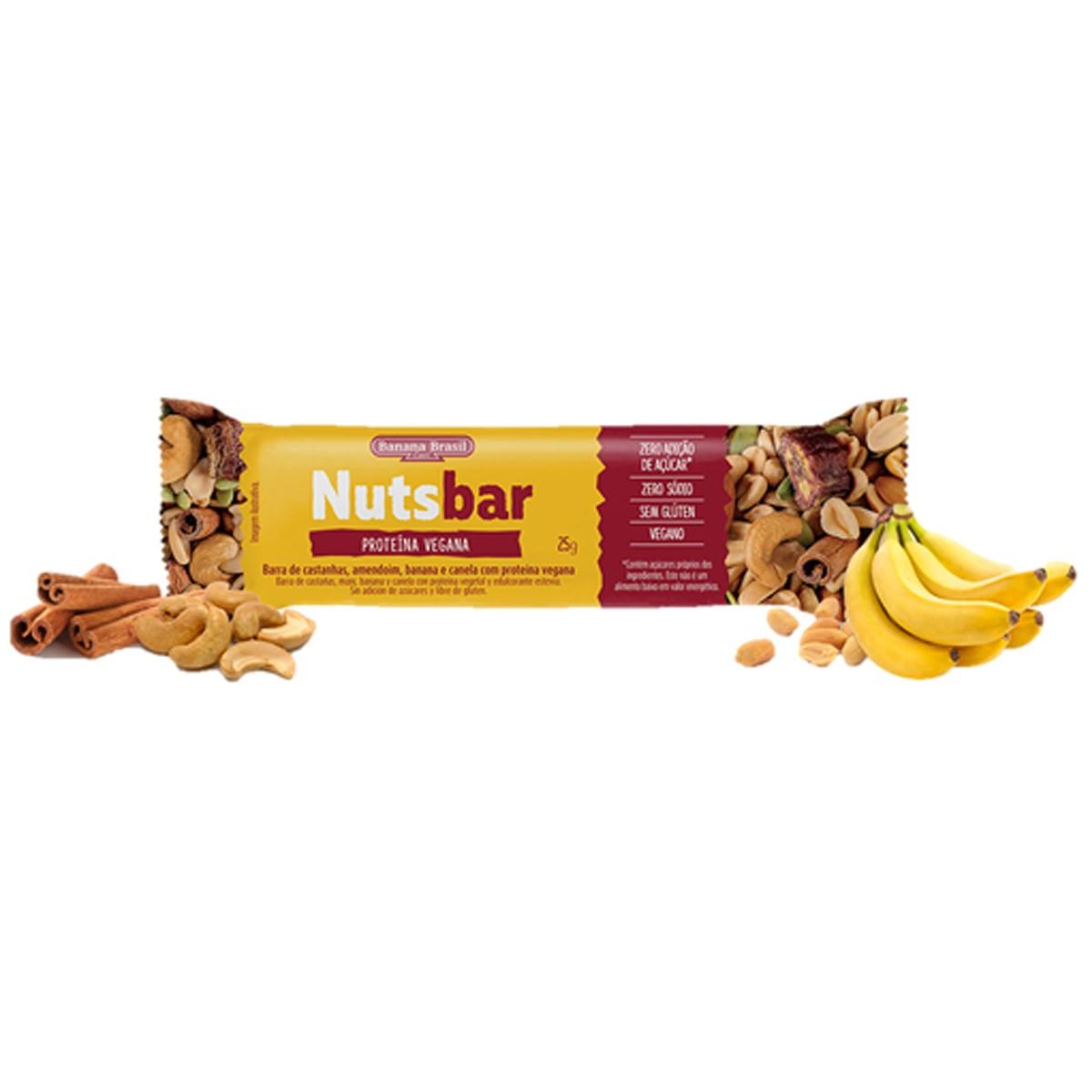 Nutsbar com Proteina Vegana 25g - Banana Brasil