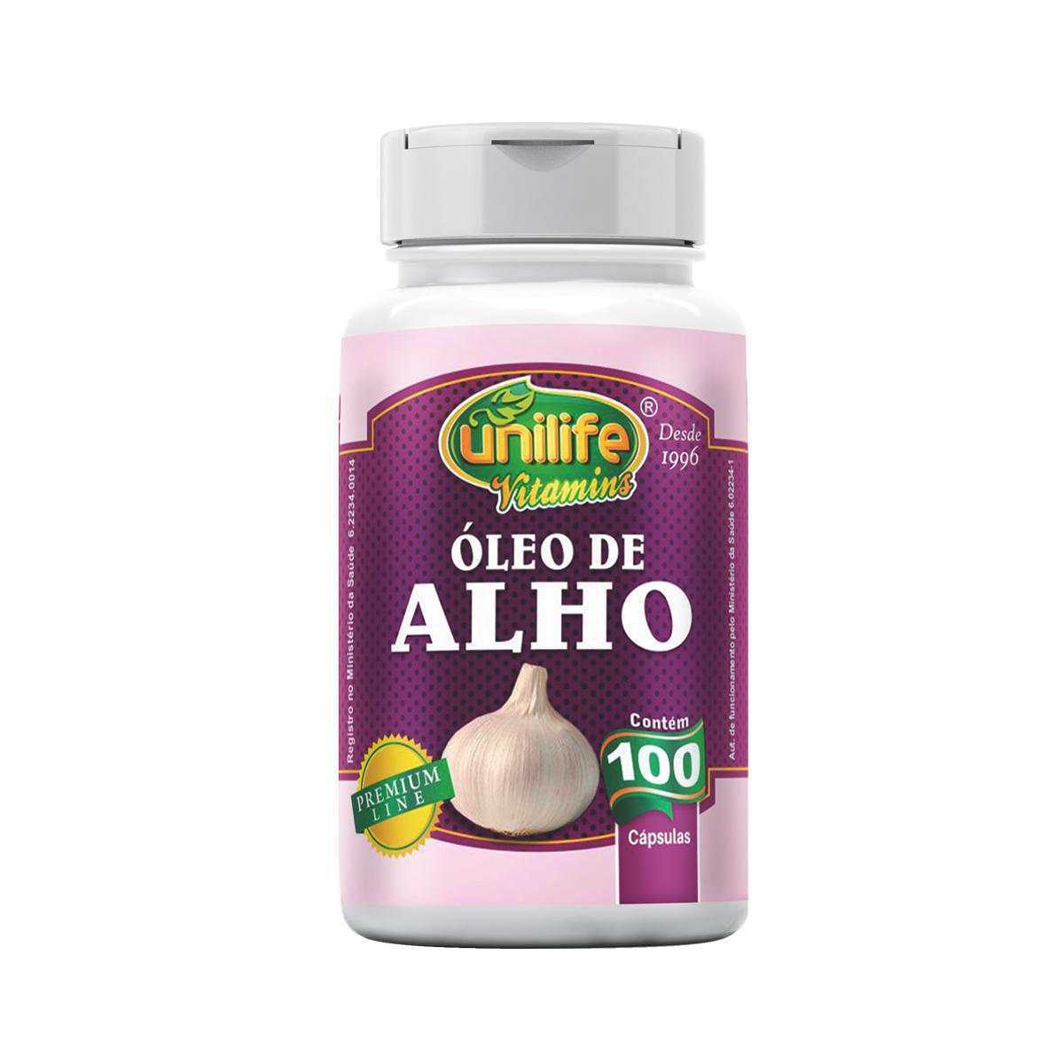 Óleo de Alho 350mg 100 Cápsulas - Unilife