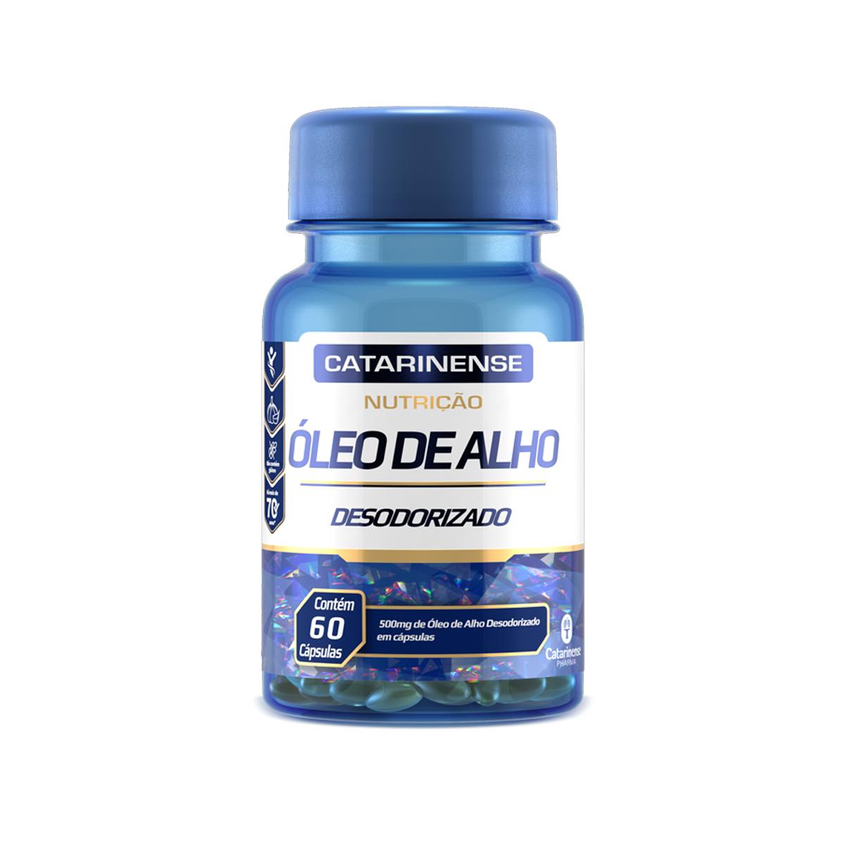 Óleo de Alho Desodorizado 500mg 60 Cápsulas - Catarinense