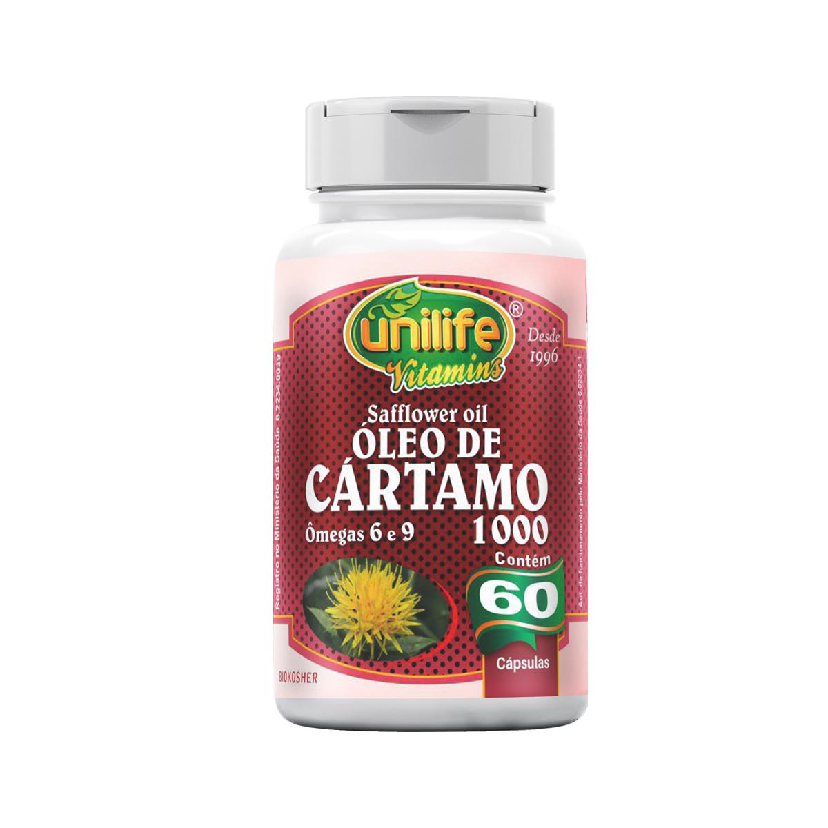 Óleo de Cártamo 1200mg 60 Cápsulas - Unilife