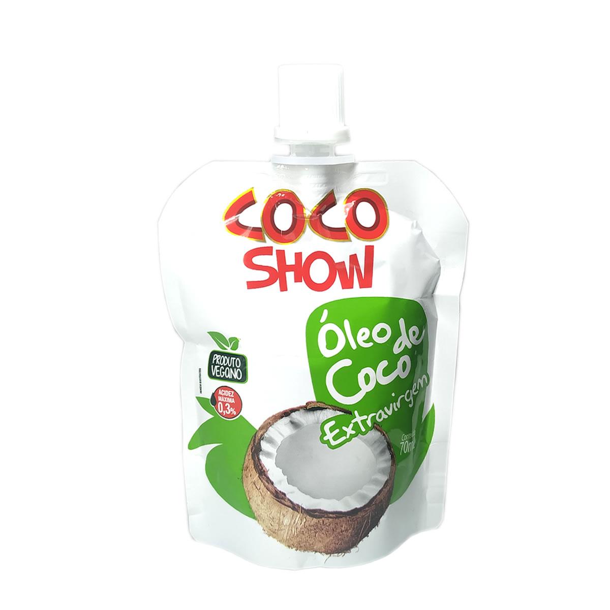 Óleo de Coco Extra Virgem Stand Pouch 70ml - Coco Show