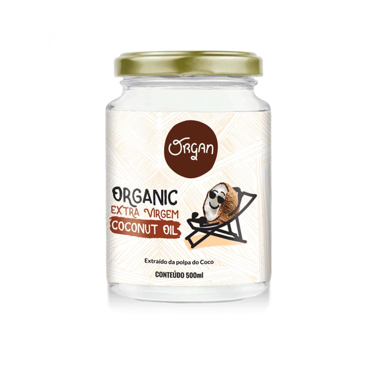 Óleo de Coco Orgânico Extra Virgem 500ml - Organ