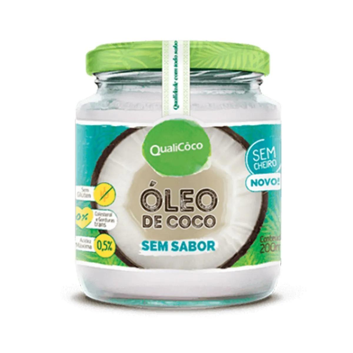 Óleo de Coco sem sabor 200ml - Qualicôco